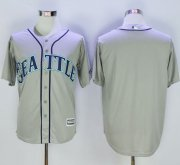 Wholesale Cheap Mariners Blank Grey New Cool Base Stitched MLB Jersey