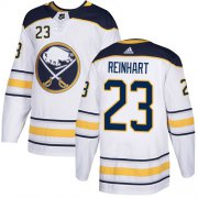 Wholesale Cheap Adidas Sabres #23 Sam Reinhart White Road Authentic Youth Stitched NHL Jersey