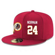 Wholesale Cheap Washington Redskins #24 Josh Norman Snapback Cap NFL Player Red with White Number Stitched Hat