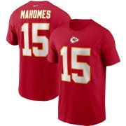 Wholesale Cheap Kansas City Chiefs #15 Patrick Mahomes Nike Team Player Name & Number T-Shirt Red