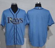 Wholesale Cheap Rays Blank Light Blue New Cool Base Stitched MLB Jersey