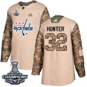 Wholesale Cheap Adidas Capitals #32 Dale Hunter Camo Authentic 2017 Veterans Day Stanley Cup Final Champions Stitched NHL Jersey