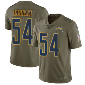 Wholesale Cheap Nike Chargers #54 Melvin Ingram Olive Men\'s Stitched NFL Limited 2017 Salute to Service Jersey