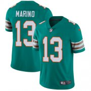 Wholesale Cheap Nike Dolphins #13 Dan Marino Aqua Green Alternate Men's Stitched NFL Vapor Untouchable Limited Jersey