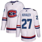 Wholesale Cheap Adidas Canadiens #27 Alexei Kovalev White Authentic 2017 100 Classic Stitched NHL Jersey