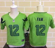Wholesale Cheap Toddler Nike Seahawks #12 Fan Green Alternate Stitched NFL Elite Jersey