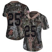 Wholesale Cheap Nike Patriots #25 Terrence Brooks Camo Women's Stitched NFL Limited Rush Realtree Jersey