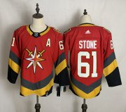 Wholesale Cheap Men's Vegas Golden Knights #61 Mark Stone Red Adidas 2020-21 Alternate Authentic Player NHL Jersey