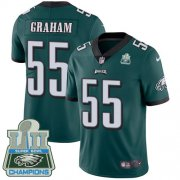 Wholesale Cheap Nike Eagles #55 Brandon Graham Midnight Green Team Color Super Bowl LII Champions Men's Stitched NFL Vapor Untouchable Limited Jersey