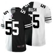 Cheap Pittsburgh Steelers #55 Devin Bush Men's Black V White Peace Split Nike Vapor Untouchable Limited NFL Jersey