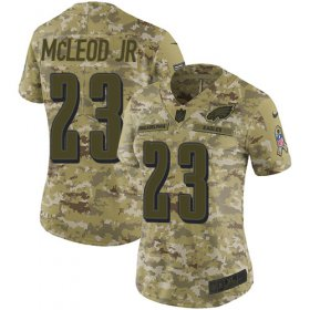 Wholesale Cheap Nike Eagles #23 Rodney McLeod Jr Camo Women\'s Stitched NFL Limited 2018 Salute to Service Jersey