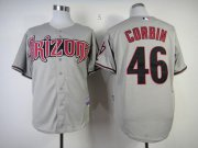 Wholesale Diamondbacks #46 Patrick Corbin Grey Cool Base Stitched Baseball Jersey