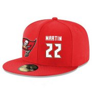Wholesale Cheap Tampa Bay Buccaneers #22 Doug Martin Snapback Cap NFL Player Red with White Number Stitched Hat