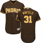 Wholesale Cheap Padres #31 Dave Winfield Brown Flexbase Authentic Collection Stitched MLB Jersey