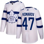 Wholesale Cheap Adidas Maple Leafs #47 Leo Komarov White Authentic 2018 Stadium Series Stitched NHL Jersey