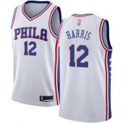 Wholesale Cheap 76ers #12 Tobias Harris White Basketball Swingman Association Edition Jersey