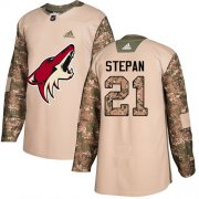 Wholesale Cheap Adidas Coyotes #21 Derek Stepan Camo Authentic 2017 Veterans Day Stitched Youth NHL Jersey