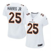 Wholesale Cheap Nike Broncos #25 Chris Harris Jr White Women's Stitched NFL Game Event Jersey