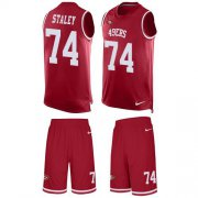Wholesale Cheap Nike 49ers #74 Joe Staley Red Team Color Men's Stitched NFL Limited Tank Top Suit Jersey