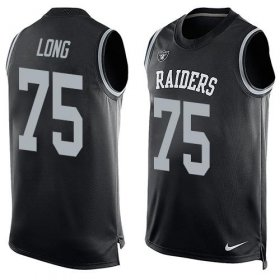 Wholesale Cheap Nike Raiders #75 Howie Long Black Team Color Men\'s Stitched NFL Limited Tank Top Jersey
