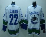 Wholesale Cheap Canucks #22 D.sedin White Embroidered Youth NHL Jersey