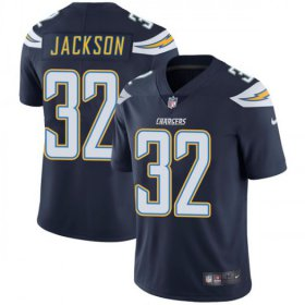 Wholesale Cheap Nike Chargers #32 Justin Jackson Navy Blue Team Color Men\'s Stitched NFL Vapor Untouchable Limited Jersey