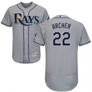 Wholesale Cheap Rays #22 Chris Archer Grey Flexbase Authentic Collection Stitched MLB Jersey