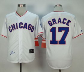 Wholesale Cheap Mitchell And Ness 1988 Cubs #17 Mark Grace White Stitched MLB Jersey