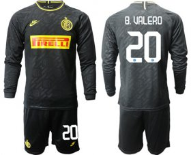Wholesale Cheap Inter Milan #20 B.Valero Third Long Sleeves Soccer Club Jersey