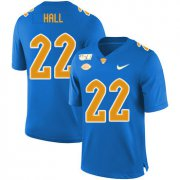 Wholesale Cheap Pittsburgh Panthers 22 Darrin Hall Blue 150th Anniversary Patch Nike College Football Jersey