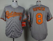 Wholesale Cheap Orioles #8 Cal Ripken Grey Cool Base Stitched MLB Jersey