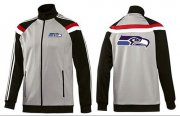 Wholesale Cheap NFL Seattle Seahawks Team Logo Jacket Grey