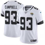 Wholesale Cheap Nike Jaguars #93 Calais Campbell White Men's Stitched NFL Vapor Untouchable Limited Jersey