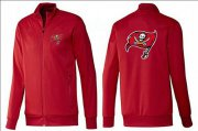 Wholesale NFL Tampa Bay Buccaneers Team Logo Jacket Red_1