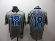 Wholesale Cheap Colts #18 Peyton Manning Grey Shadow Stitched NFL Jersey