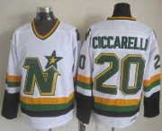 Wholesale Cheap Stars #20 Dino Ciccarelli White CCM Throwback Stitched NHL Jersey