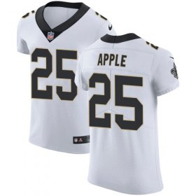 Wholesale Cheap Nike Saints #25 Eli Apple White Men\'s Stitched NFL Vapor Untouchable Elite Jersey