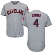 Wholesale Cheap Indians #4 Bradley Zimmer Grey Flexbase Authentic Collection Stitched MLB Jersey