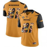 Wholesale Cheap Missouri Tigers 81 Albert Okwuegbunam Gold Nike Fashion College Football Jersey
