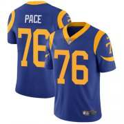 Wholesale Cheap Nike Rams #76 Orlando Pace Royal Blue Alternate Men's Stitched NFL Vapor Untouchable Limited Jersey