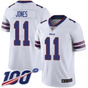 Wholesale Cheap Nike Bills #11 Zay Jones White Men's Stitched NFL 100th Season Vapor Limited Jersey