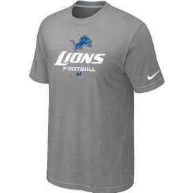 Wholesale Cheap Nike Detroit Lions Critical Victory NFL T-Shirt Light Grey