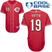 Wholesale Reds #19 Joey Votto Red Cool Base Stitched Baseball Jersey