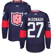 Wholesale Cheap Team USA #27 Ryan McDonagh Navy Blue 2016 World Cup Stitched Youth NHL Jersey