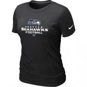 Wholesale Cheap Women's Nike Seattle Seahawks Critical Victory NFL T-Shirt Black