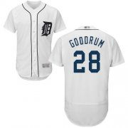Wholesale Cheap Tigers #28 Niko Goodrum White Flexbase Authentic Collection Stitched MLB Jersey