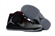 Wholesale Cheap Womens Air Jordan 31 Retro Shoes Black/Grey-Red
