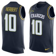 Wholesale Cheap Nike Chargers #10 Justin Herbert Navy Blue Team Color Men's Stitched NFL Limited Tank Top Jersey