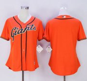 Wholesale Cheap Giants Blank Orange Women's Alternate Stitched MLB Jersey