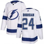 Cheap Adidas Lightning #24 Zach Bogosian White Road Authentic Stitched NHL Jersey